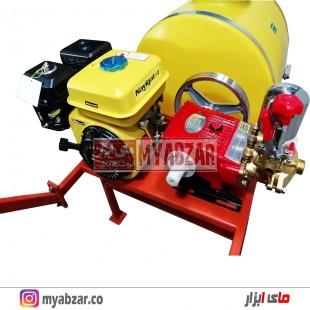 سمپاش 100 لیتری موتور نویگیتور 168F-1 با پمپ 45 بار طرح وولی