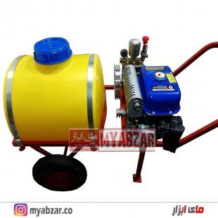 سمپاش 100 لیتری موتور یاماها MZ250 با پمپ 45 بار مشکی طرح رینو پاور