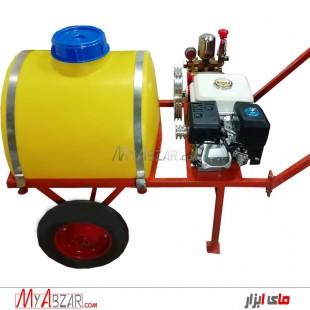 سمپاش فرغونی 100 لیتری موتور 6.5 با پمپ 45 بار