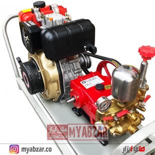 موتور پمپ و سمپاش زنبه ای کاما 7 اسب با پمپ 60 بار یاماها