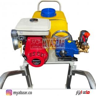 سمپاش فرغونی 100 لیتری موتور هوندا هندی 6.5 اسب و پمپ 55 بار یاماها