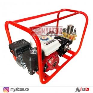 سمپاش زنبه ای موتور طرح هوندا 6.5 با پمپ 45 بار دیاموند مشکی