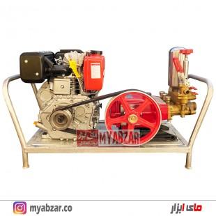 موتور پمپ و سمپاش زنبه ای کاما 9 اسب با پمپ 120 بار دیاموند