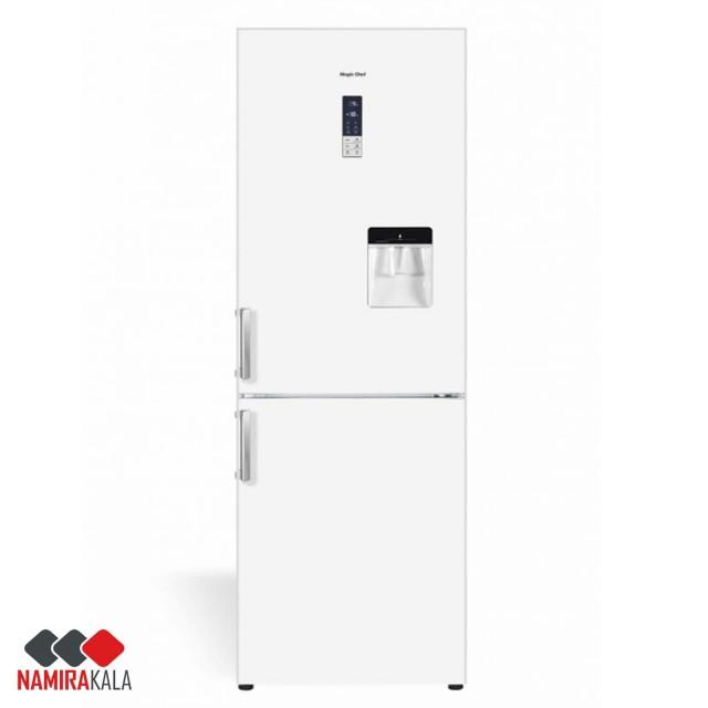 یخچال پایین فریزر کمبی مجیک شف سفید مدل MCCRH-60185NW/NS