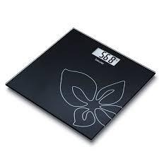 ترازوی شیشه ای بیور مدل GS27 BLACK FLOWER