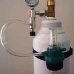 کپسول 5 لیتری اکسیژن همراه مانومتر