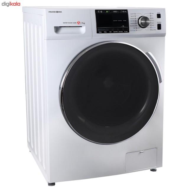 ماشین لباسشویی پاکشوما نقره ای مدل TFU-74401 ظرفیت 7 کیلوگرم