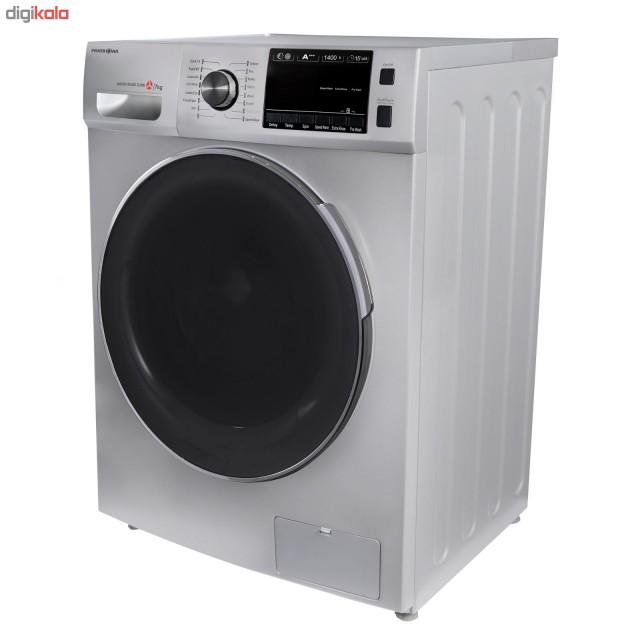 ماشین لباسشویی پاکشوما نقره ای مدل TFU 74406 ST ظرفیت 7 کیلوگرم