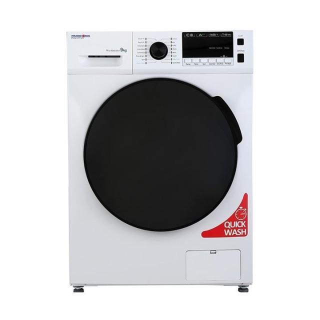 ماشین لباسشویی پاکشوما نقره ای مدل TFU 93403 ظرفیت 9 کیلوگرم
