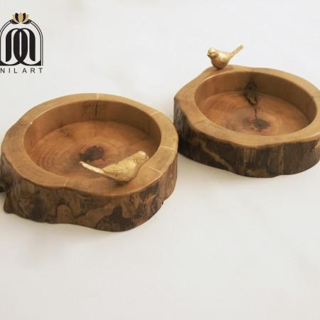 یک جفت کاسه چوبی