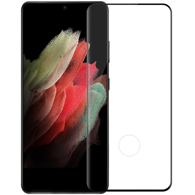 محافظ صفحه نمایش شیشهای نیلکین سامسونگ Nillkin Samsung Galaxy S21 Ultra 3D CP+MAX Anti-Explosion Glass Screen Protector