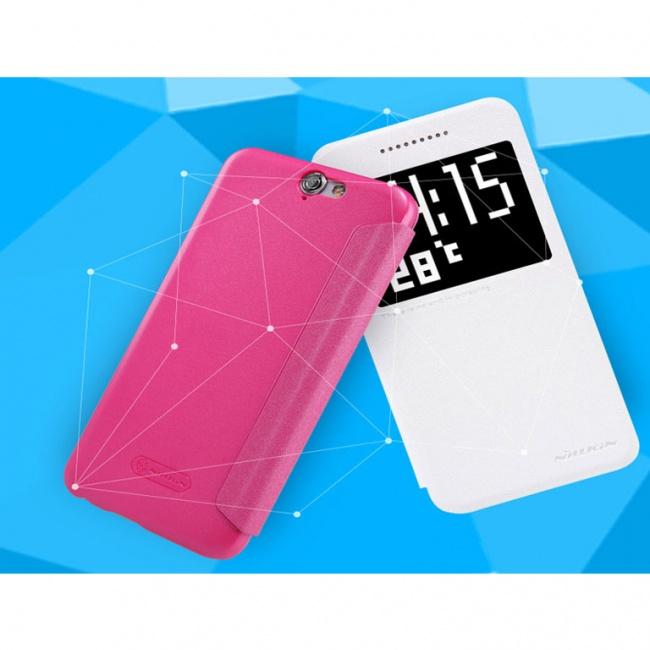 کیف چرمی HTC One A9 Sparkle Leather Case