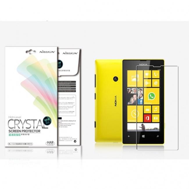محافظ صفحه نمایش شفاف Nokia Lumia 520/525 Super Clear Anti-fingerprint