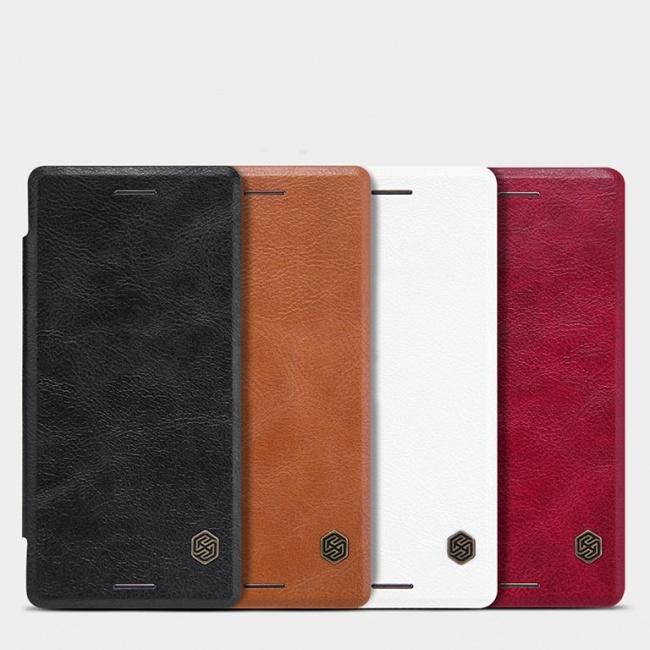 کیف چرمی Sony Xperia X Qin leather case