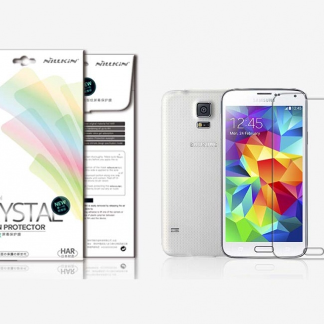 محافظ صفحه نمایش Nillkin  Super Clear Anti-fingerprintProtective Film For Samsung GALAXY S5