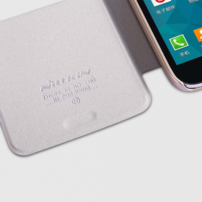 کیف چرمی  NILLKIN NEW LEATHER CASE-Sparkle Leather Case For Samsung GALAXY S5