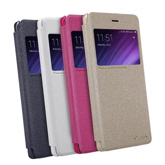 کیف محافظ چرمی نیلکین Nillkin Sparkle Leather Case For Xiaomi RedMi 4 Pro