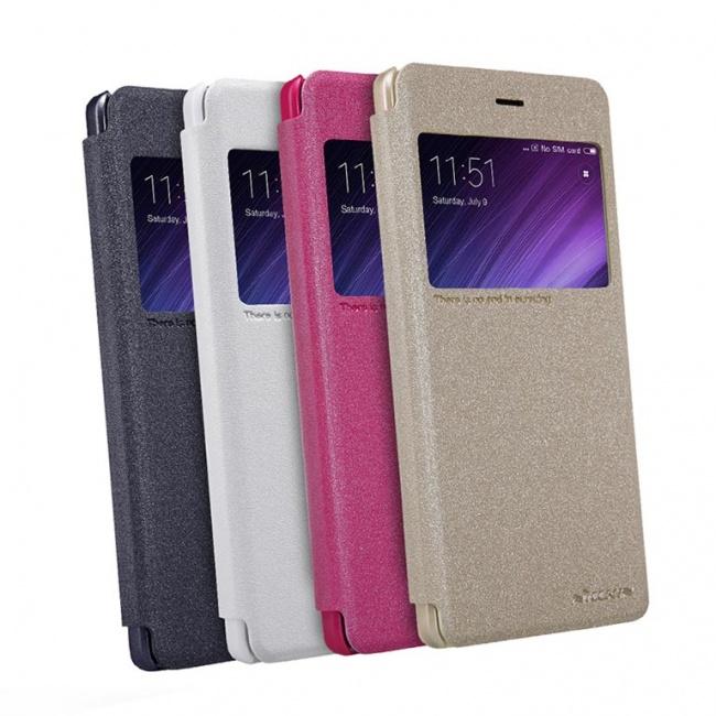 کیف محافظ چرمی نیلکین Nillkin Sparkle Leather Case For Xiaomi RedMi 4