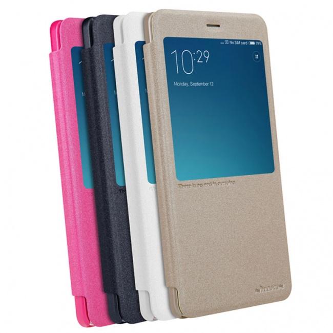 کیف محافظ چرمی نیلکین Nillkin Sparkle Leather Case For Xiaomi RedMi Note 4