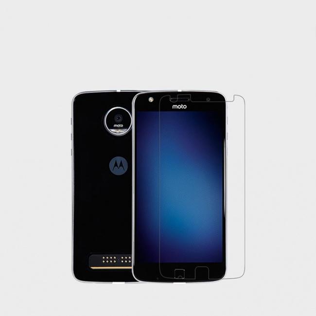 محافظ صفحه نمایش شفاف MOTO Z Play Super Clear Anti-fingerprint