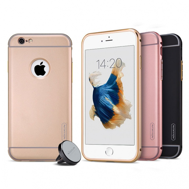 پکیج قاب محافظ و هولدر نیلکین Nillkin Car Holder iphone 6s Plus