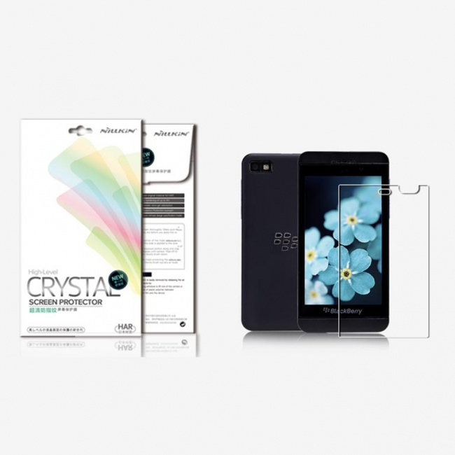 محافظ صفحه نمایش شفاف BlackBerry Z10 Super Clear Anti-fingerprint