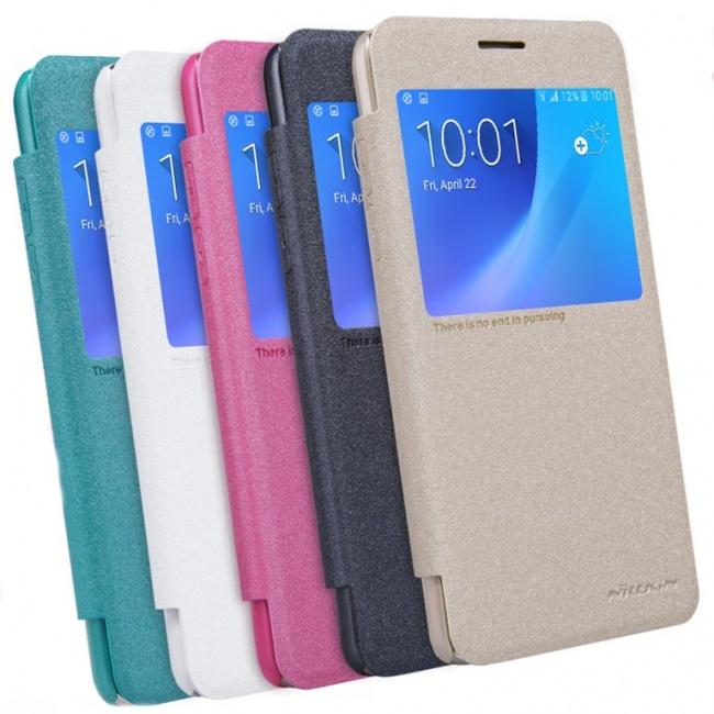 کیف محافظ نیلکین Samsung J5108 Sparkle Leather Case