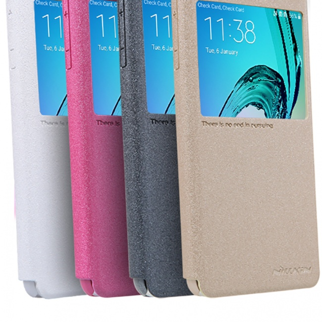 کیف محافظ نیلکین Samsung A3100 Sparkle Leather case