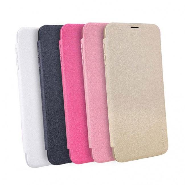 کیف محافظ چرمی نیلکین Nillkin Sparkle Leather Case For Samsung Galaxy S8