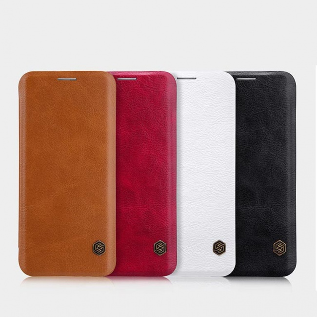 کیف محافظ چرمی نیلکین Nillkin Qin Leather Case For Samsung Galaxy S8 Plus