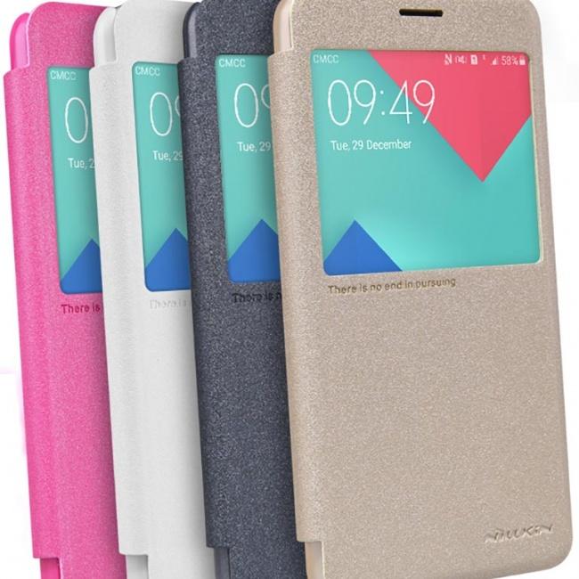 کیف محافظ نیلکین Samsung A7100 Sparkle Leather Case