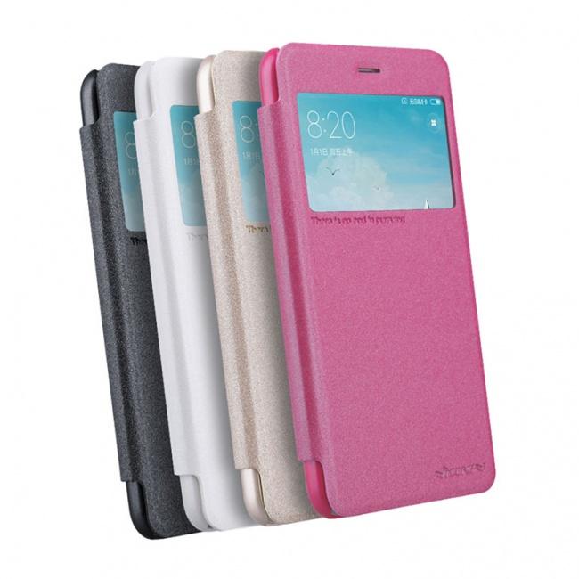 کیف محافظ چرمی نیلکین Nillkin Sparkle Leather Case For Xiaomi RedMi 4X