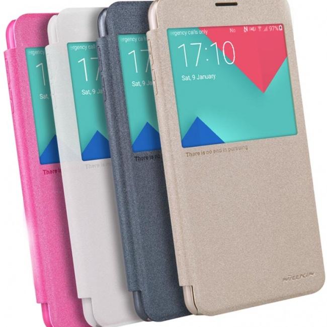 کیف محافظ اسپارکل نیلکین Samsung Galaxy A9 Sparkle Leather Case