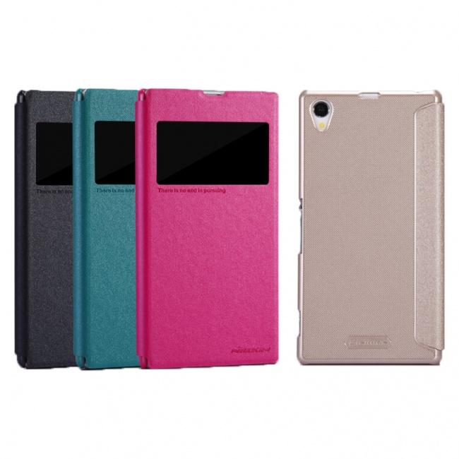 کیف محافظ نیلکین Sony Xperia Z1 Sparkle Leather Case