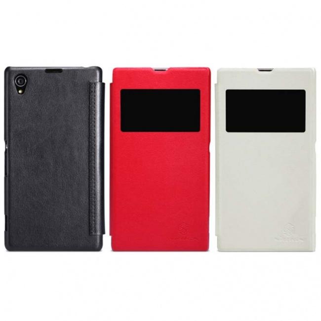 کیف محافظ نیلکین Sony Xperia Z1 Stylish Leather Case