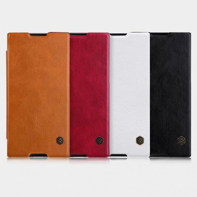 کیف چرمی محافظ Sony Xperia XA1 Ultra Qin leather case
