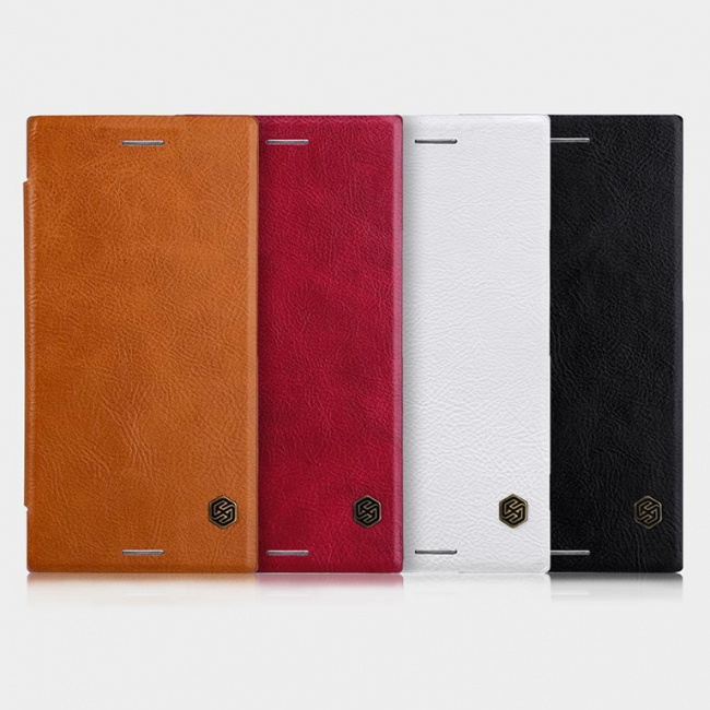 کیف محافظ چرمی نیلکین Sony Xperia XZ Premium Qin leather case