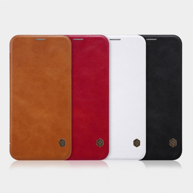 کیف محافظ چرمی نیلکین Nillkin Qin Leather Case For Samsung Galaxy J7 Plus