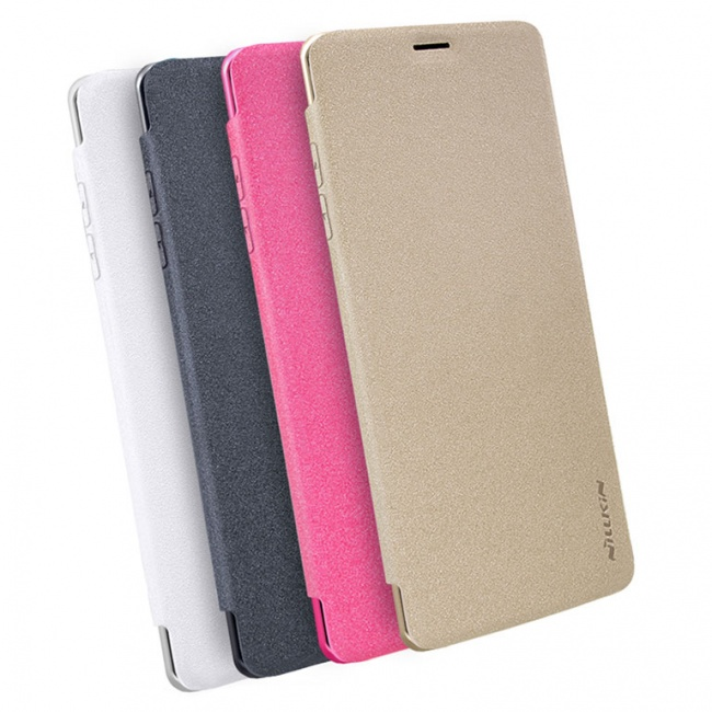 کیف محافظ چرمی نیلکین Nillkin Sparkle Leather Case For Samsung Galaxy Note 8