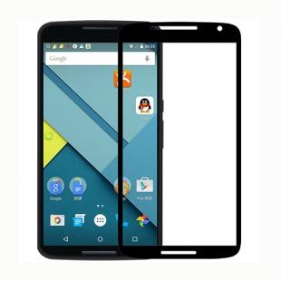 محافظ صفحه نمایش شیشه ای مشکی +Moto Nexus 6 CP