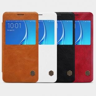 کیف چرمی نیلکین Samsung J7108 Qin leather case