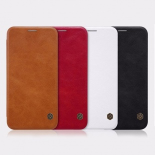 کیف محافظ چرمی نیلکین Nillkin Qin Leather Case For Samsung Galaxy J3 2017