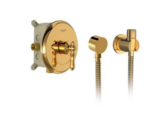 شیر توالت توکار شودر مدل زیگموند brass طلا