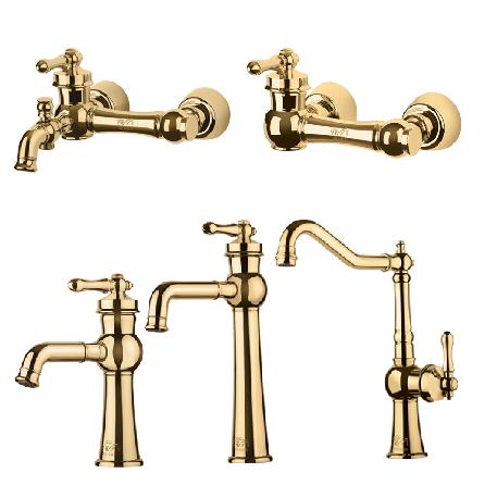 ست 4 تکه شیرالات شاهین مدل ملورین طلا
