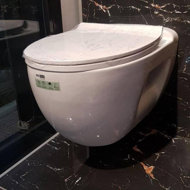 توالت وال هنگ گلسار مدل بستایل