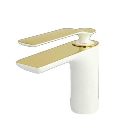 شیر روشویی راسان مدل ویولت سفید طلا