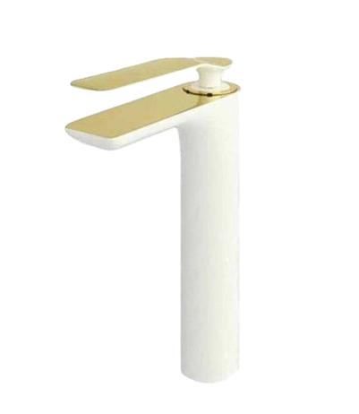 روشویی پایه بلند راسان مدل ویولت سفید طلا