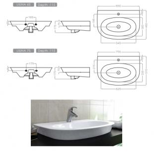 روشویی گلسار فارس مدل لیونا 65