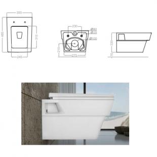 توالت وال هنگ گلسار مدل آستر