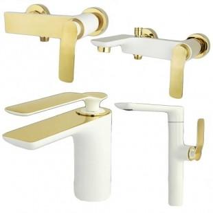 سری شیرالات سفید طلا راسان مدل ویولت